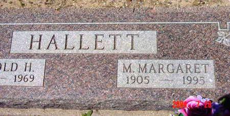 HALLETT, M. MARGARET - Yavapai County, Arizona | M. MARGARET HALLETT - Arizona Gravestone Photos