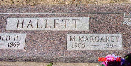 HALLETT, M. MARGARET - Yavapai County, Arizona | M. MARGARET HALLETT - Arizona Gravestone Photos