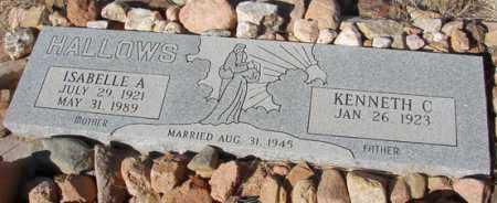 HALLOWS, ISABELLE ANNE - Yavapai County, Arizona   ISABELLE ANNE HALLOWS - Arizona Gravestone Photos