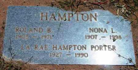 HAMPTON, ROLAND B. - Yavapai County, Arizona | ROLAND B. HAMPTON - Arizona Gravestone Photos
