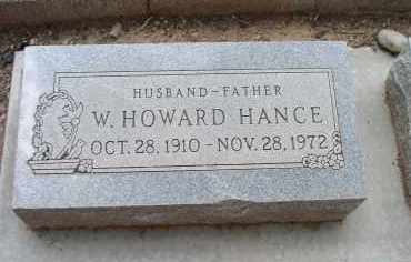 HANCE, WILLIAM HOWARD - Yavapai County, Arizona | WILLIAM HOWARD HANCE - Arizona Gravestone Photos