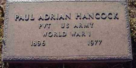 HANCOCK, PAUL ADRIAN - Yavapai County, Arizona | PAUL ADRIAN HANCOCK - Arizona Gravestone Photos