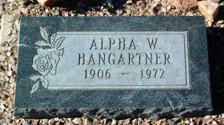 HANGARTNER, ALPHA WILLIAM - Yavapai County, Arizona | ALPHA WILLIAM HANGARTNER - Arizona Gravestone Photos