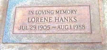 HANKS, LORENE - Yavapai County, Arizona | LORENE HANKS - Arizona Gravestone Photos