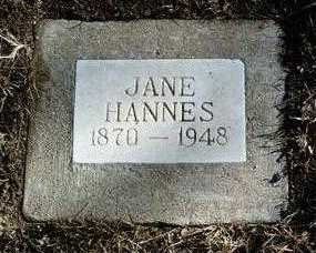 HANNES, JANE - Yavapai County, Arizona | JANE HANNES - Arizona Gravestone Photos