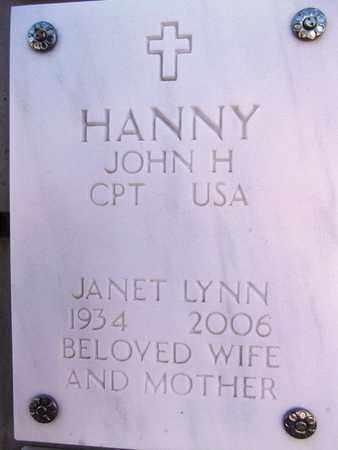 RYAN HANNY, JANET LYNN - Yavapai County, Arizona   JANET LYNN RYAN HANNY - Arizona Gravestone Photos