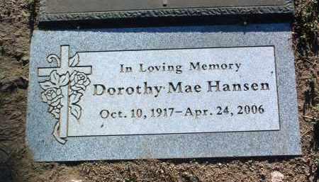 HANSEN, DOROTHY MAE - Yavapai County, Arizona   DOROTHY MAE HANSEN - Arizona Gravestone Photos