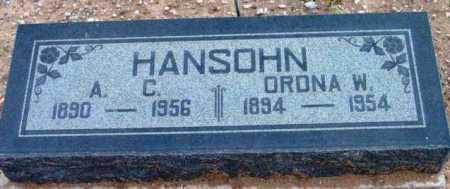 HANSOHN, ORDNA W. - Yavapai County, Arizona   ORDNA W. HANSOHN - Arizona Gravestone Photos