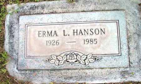 HANSON, ERMA L. - Yavapai County, Arizona | ERMA L. HANSON - Arizona Gravestone Photos