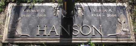 HANSON, GEORGE H. - Yavapai County, Arizona   GEORGE H. HANSON - Arizona Gravestone Photos