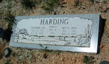 HARDING, BETTY JANE - Yavapai County, Arizona | BETTY JANE HARDING - Arizona Gravestone Photos
