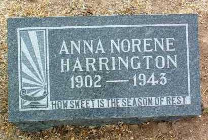 HARRINGTON, ANNA NORENE - Yavapai County, Arizona | ANNA NORENE HARRINGTON - Arizona Gravestone Photos