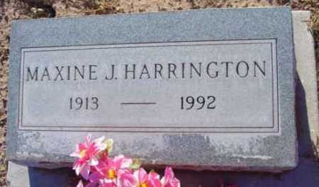HARRINGTON, MAXINE J. - Yavapai County, Arizona | MAXINE J. HARRINGTON - Arizona Gravestone Photos