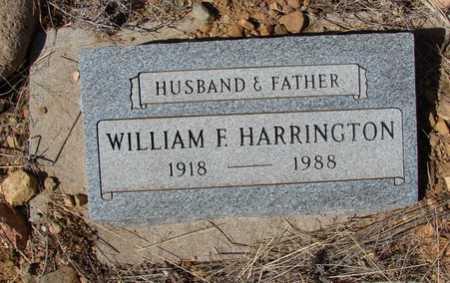 HARRINGTON, WILLIAM FREDERICK - Yavapai County, Arizona   WILLIAM FREDERICK HARRINGTON - Arizona Gravestone Photos