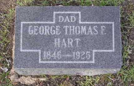 HART, GEORGE THOMAS F. - Yavapai County, Arizona | GEORGE THOMAS F. HART - Arizona Gravestone Photos