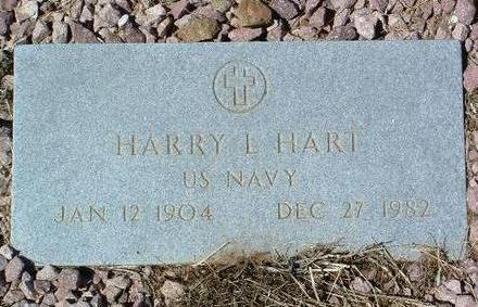 HART, HARRY L. - Yavapai County, Arizona | HARRY L. HART - Arizona Gravestone Photos