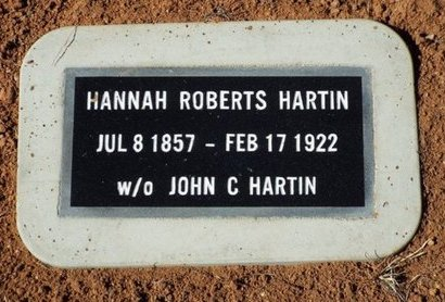 HARTIN, HANNAH - Yavapai County, Arizona | HANNAH HARTIN - Arizona Gravestone Photos