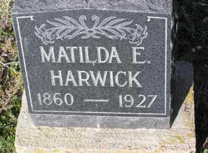 HARWICK, MATILDA E. - Yavapai County, Arizona   MATILDA E. HARWICK - Arizona Gravestone Photos