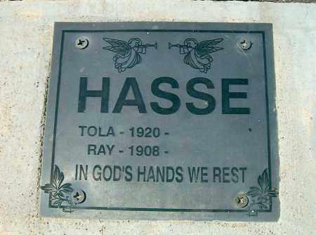 HASSE, TOLA L. - Yavapai County, Arizona | TOLA L. HASSE - Arizona Gravestone Photos