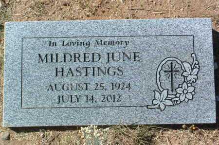 HASTINGS, MILDRED JUNE - Yavapai County, Arizona | MILDRED JUNE HASTINGS - Arizona Gravestone Photos