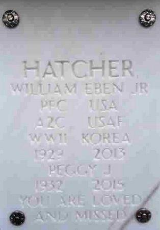 HATCHER, WILLIAM EBAN, JR. - Yavapai County, Arizona | WILLIAM EBAN, JR. HATCHER - Arizona Gravestone Photos