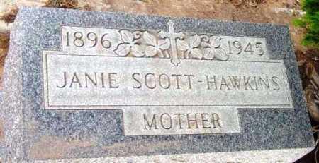 HAWKINS, JANIE SCOTT - Yavapai County, Arizona | JANIE SCOTT HAWKINS - Arizona Gravestone Photos