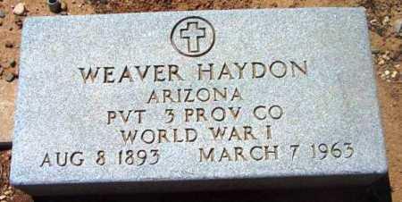 HAYDON, WEAVER - Yavapai County, Arizona | WEAVER HAYDON - Arizona Gravestone Photos