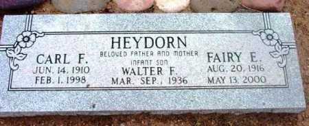 HEYDORN, WALTER FREDERICK - Yavapai County, Arizona | WALTER FREDERICK HEYDORN - Arizona Gravestone Photos