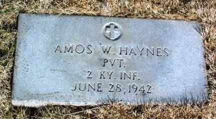 HAYNES, AMOS WILLIAM - Yavapai County, Arizona | AMOS WILLIAM HAYNES - Arizona Gravestone Photos