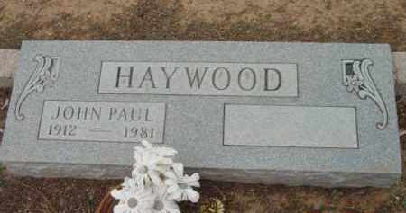 HAYWOOD, JOHN PAUL - Yavapai County, Arizona | JOHN PAUL HAYWOOD - Arizona Gravestone Photos