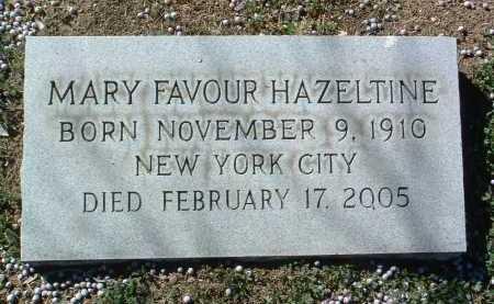 FAVOUR HAZELTINE, MARY TEMPLE - Yavapai County, Arizona | MARY TEMPLE FAVOUR HAZELTINE - Arizona Gravestone Photos