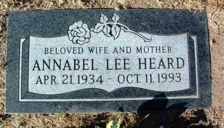 HEARD, ANNABEL LEE - Yavapai County, Arizona   ANNABEL LEE HEARD - Arizona Gravestone Photos