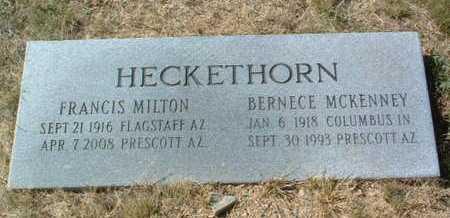 MCKENNEY HECKETHORN, BERNECE - Yavapai County, Arizona | BERNECE MCKENNEY HECKETHORN - Arizona Gravestone Photos
