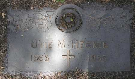 HECKLE, UTIE M. - Yavapai County, Arizona | UTIE M. HECKLE - Arizona Gravestone Photos