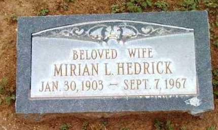 HEDRICK, MARIAN L. - Yavapai County, Arizona | MARIAN L. HEDRICK - Arizona Gravestone Photos
