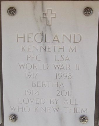 HAMRE HEGLAND, BERTHA - Yavapai County, Arizona | BERTHA HAMRE HEGLAND - Arizona Gravestone Photos