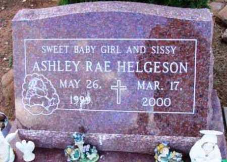 HELGESON, ASHLEY RAE - Yavapai County, Arizona   ASHLEY RAE HELGESON - Arizona Gravestone Photos