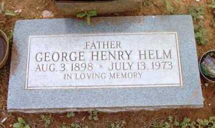 HELM, GEORGE HENRY - Yavapai County, Arizona   GEORGE HENRY HELM - Arizona Gravestone Photos