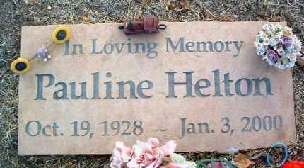 HELTON, PAULINE - Yavapai County, Arizona | PAULINE HELTON - Arizona Gravestone Photos