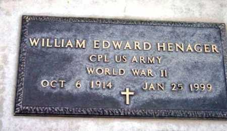 HENAGER, WILLIAM EDWARD - Yavapai County, Arizona | WILLIAM EDWARD HENAGER - Arizona Gravestone Photos