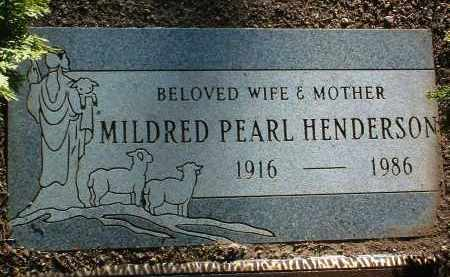 HENDERSON, MILDRED PEARL - Yavapai County, Arizona | MILDRED PEARL HENDERSON - Arizona Gravestone Photos
