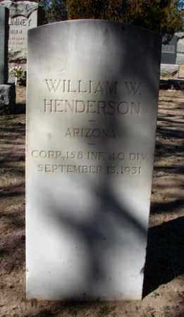 HENDERSON, WILLIAM WILLIS - Yavapai County, Arizona | WILLIAM WILLIS HENDERSON - Arizona Gravestone Photos