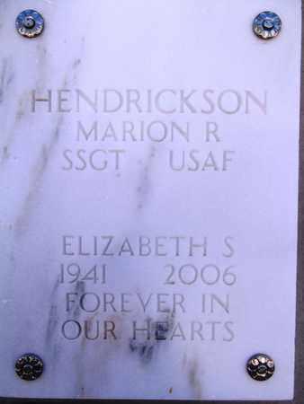 HENDRICKSON, ELIZABETH - Yavapai County, Arizona | ELIZABETH HENDRICKSON - Arizona Gravestone Photos