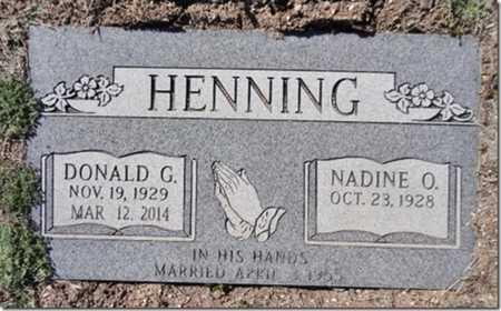 HENNING, DONALD GENE - Yavapai County, Arizona | DONALD GENE HENNING - Arizona Gravestone Photos