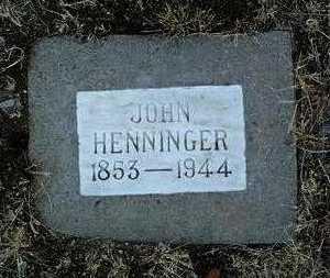 HENNINGER, JOHN - Yavapai County, Arizona | JOHN HENNINGER - Arizona Gravestone Photos