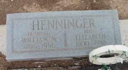 HENNINGER, ELIZABETH S. J - Yavapai County, Arizona | ELIZABETH S. J HENNINGER - Arizona Gravestone Photos