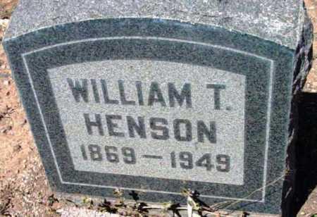 HENSON, WILLIAM T. - Yavapai County, Arizona | WILLIAM T. HENSON - Arizona Gravestone Photos