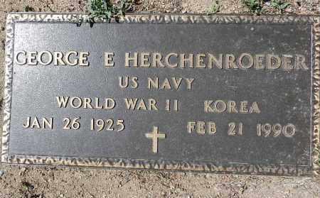 HERCHENROEDER, GEORGE E - Yavapai County, Arizona | GEORGE E HERCHENROEDER - Arizona Gravestone Photos