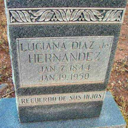HERNANDEZ, LUGIANA - Yavapai County, Arizona   LUGIANA HERNANDEZ - Arizona Gravestone Photos