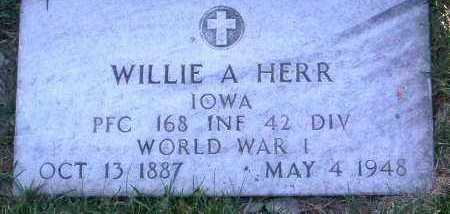 HERR, WILLIE A. - Yavapai County, Arizona | WILLIE A. HERR - Arizona Gravestone Photos